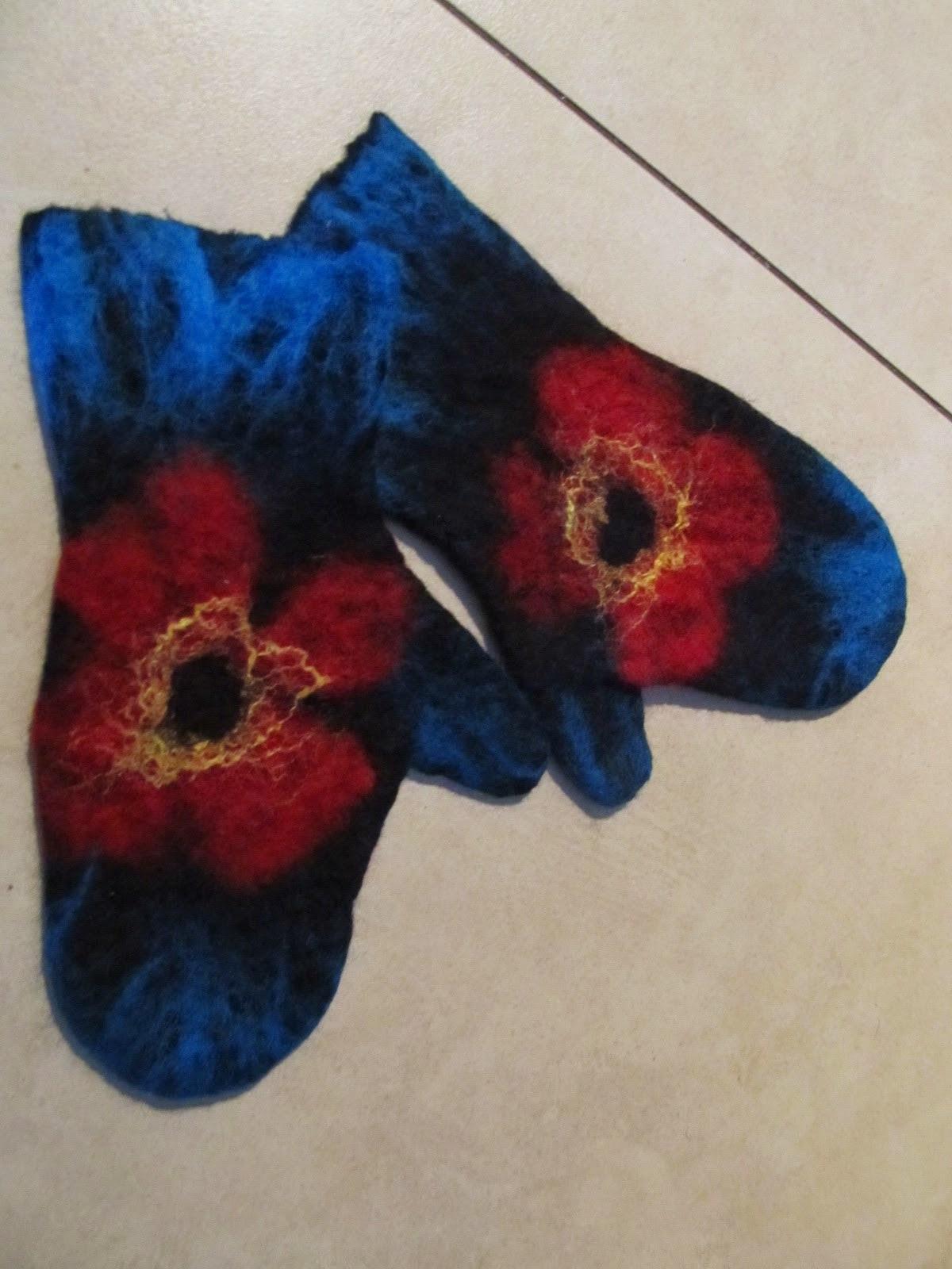 warsztaty filcowanie rękawiczek, mitenek