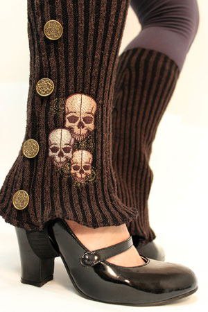 DIY Steampunk Inspired Sweater Spats – Upcycle a Little Fresh Fall
