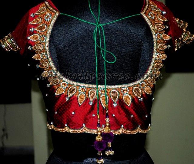 Jardhosi Crystal Work Blouse Designs
