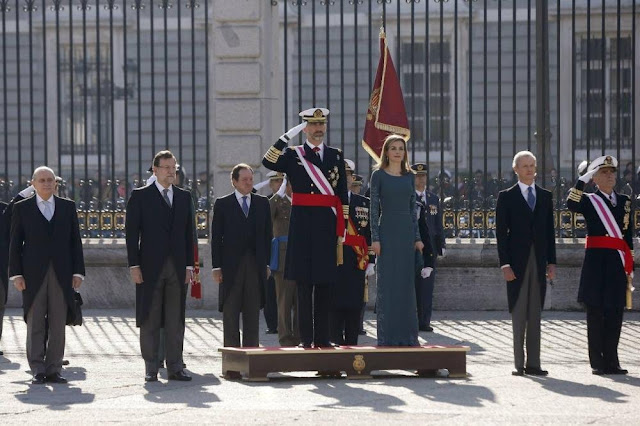King Felipe of Spain and Queen Letizia of Spain at the New Year's Military Parade