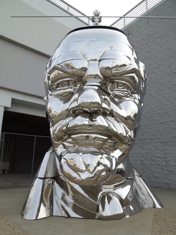 Lenin Head sculpture