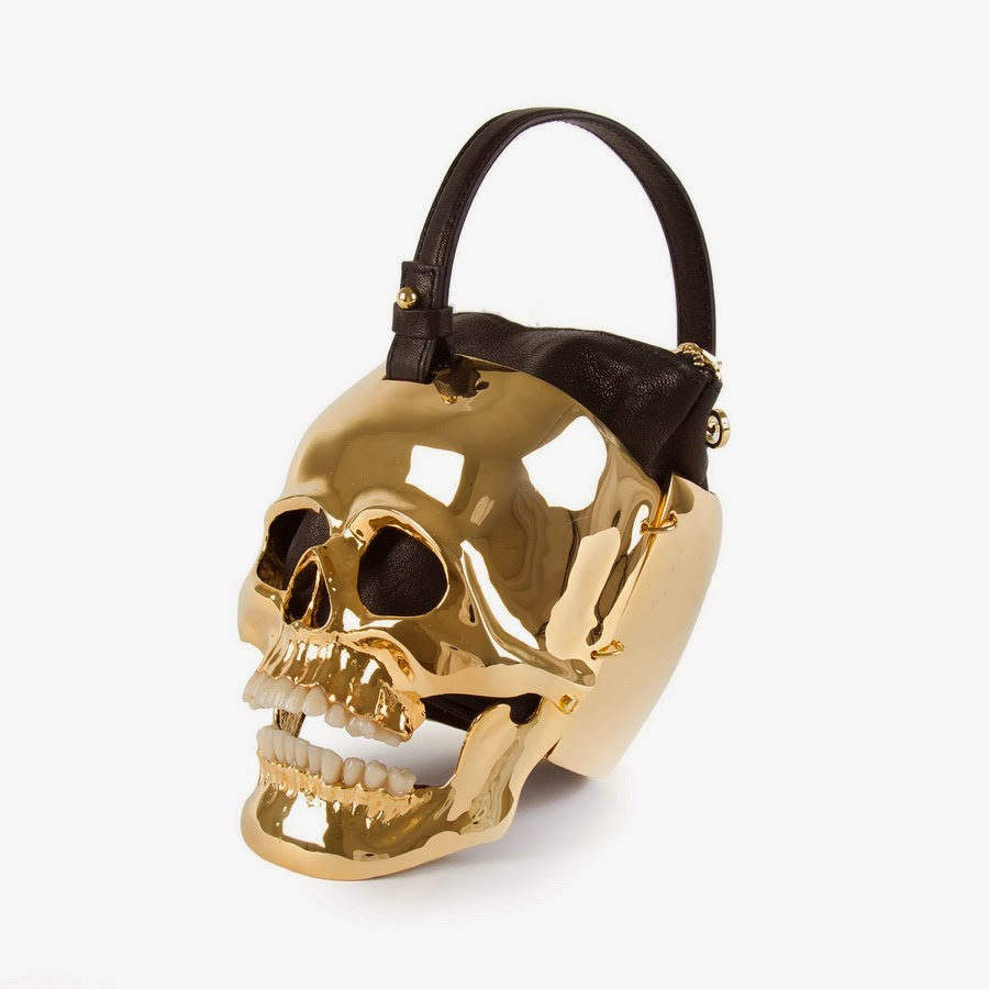 Ines Figaredo Hamlet 18KT Gold Plated Sculpture Bag