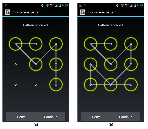Android Pattern Lock Screen