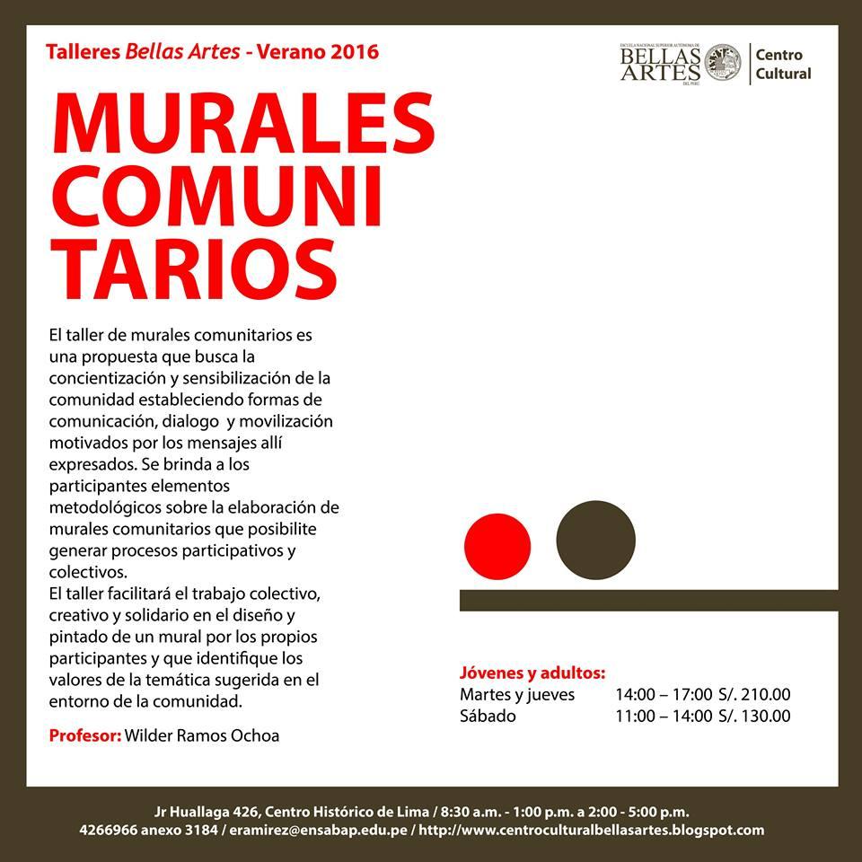 Proyecto mural comunitario taller de mural comunitario en for Definicion de pintura mural