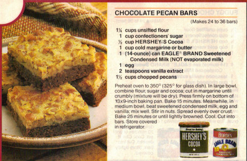 chocolate pecan bars makes 24 to 36 bars ingredients 1