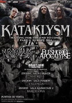 Kataklysm,  Krisiun y Fleshgod Apocalypse en Madrid, Barcelona y Valencia en enero