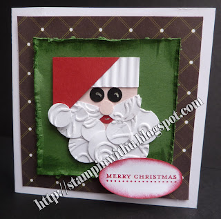 Santa Punch Art Card
