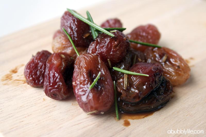 Bubbly Life: Roasted Grape & Goat Cheese Bruschetta