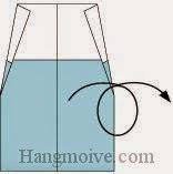 Bước 5: Lật ngược mặt đằng sau tờ giấy ra đằng trước.