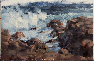 resolved plein air seascape by andy dolphin