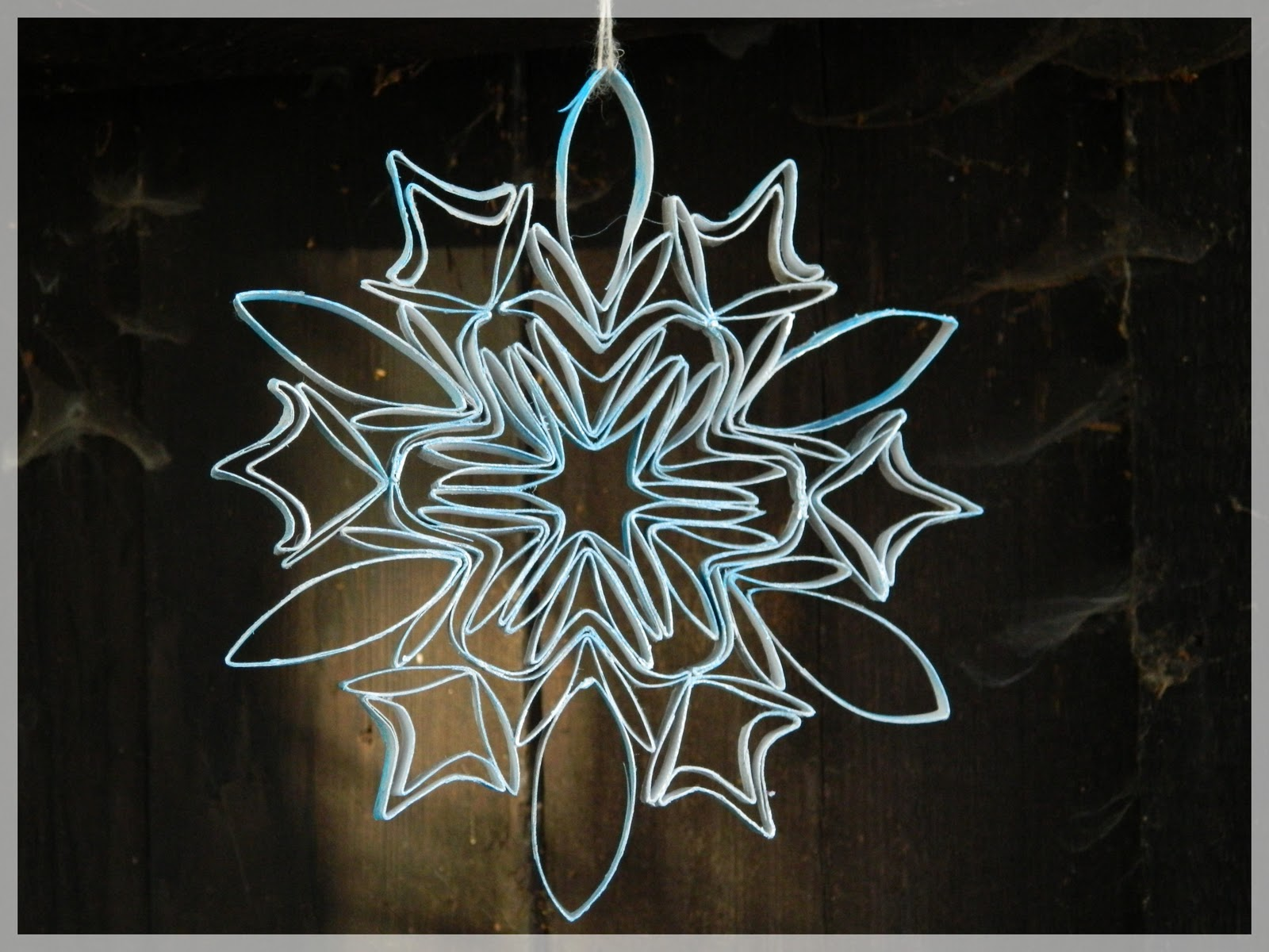 1000 images about christmas snowflakes on pinterest diy for Snowflake out of toilet paper rolls