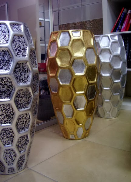 декорирование вазы сусальным золотом (серебром)