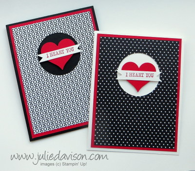 Stampin' Up! Stacked with Love Valentine Card #stampinup #occasions www.juliedavison.com
