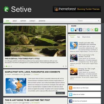Setive blog template. template image slider blog. magazine blogger template style. wordpress theme to blogger. template blog 3 column footer