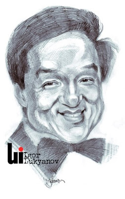 Jackie Chan caricature (cross-hatching)