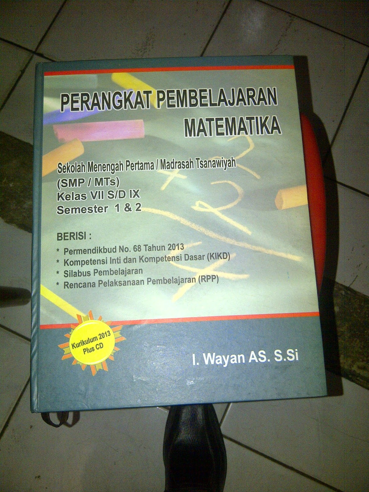 Buku Perangkat Pembelajaran Matematika Untuk Sekolah Tingkat SMP MTs terbaru dan terlengkap