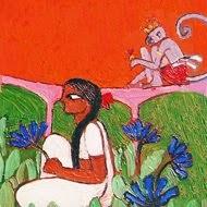 Sita in Ravana's garden