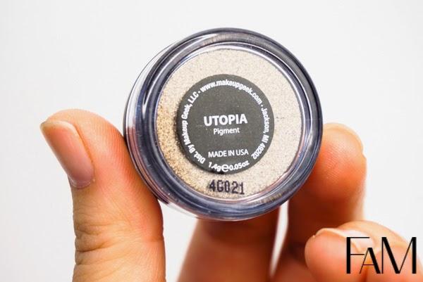 Utopia, Makeup Geek Cosmetics Eyeshadow and Pigment Review and Swatches, makeupgeek, makeupgeektv, futilitiesandmore, futilitiesmore, beauty blog, makeupgeekcosmetics, z palette, diy z palette,