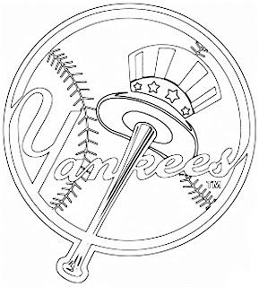 Escudo de los Yankees de Nueva York para colorear
