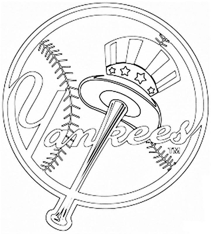 Pinto Dibujos: Escudo de los Yankees de Nueva York para colorear