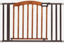 Decorative Wood & Metal 5-Foot Pressure Mounted Gate