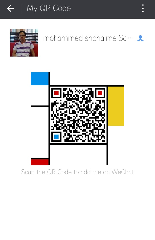 scan my id code wechat