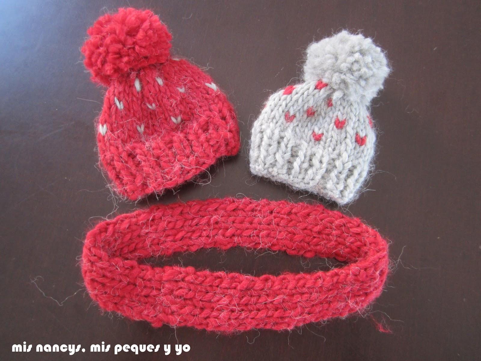 mis nancys, mis peques y yo, tutorial gorros de lana  y bufanda cerrada nancy