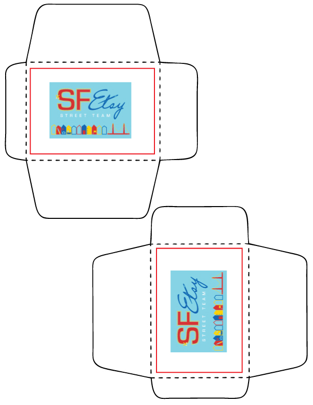 Print this ATC Envelope template to house your Artists Trading Cards ...
