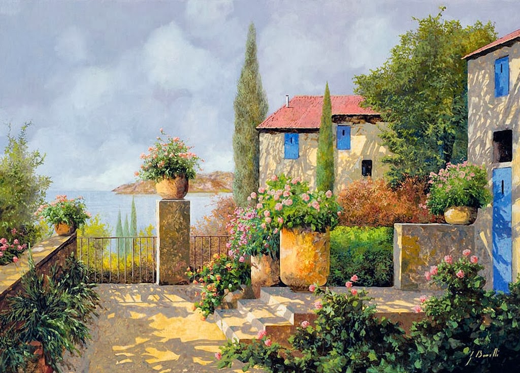 Cuadros pinturas oleos paisajes coloniales pinturas al - Paisajes de casas ...