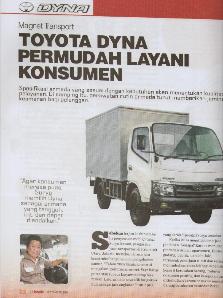 TOYOTA DYNA ADVETORIAL