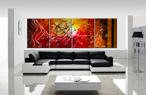 "Original Abstract Painting ""Dimensions of Dreams"" by Artist Dora Woodrum"