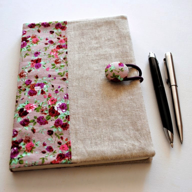 Diy Book Cover For Laptop : Sewforsoul fabric notebook cover tutorial