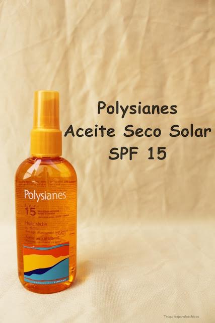 Aceite Seco Solar SPF 15 de Polysianes