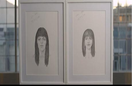 imagen de la acción e Dove The Sketches en la que se muestran dos retratos robot realizados por un polícia estadounidense
