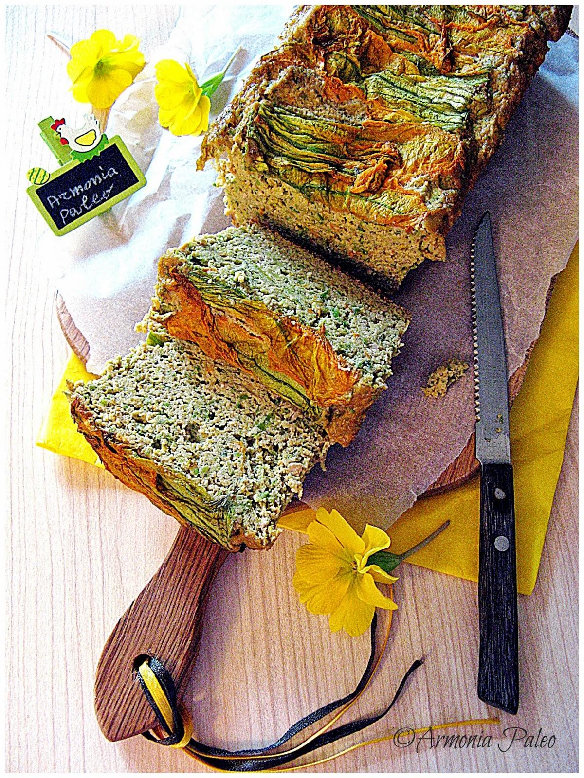 Cake Salato ai Fiori di Zucchine di Armonia Paleo