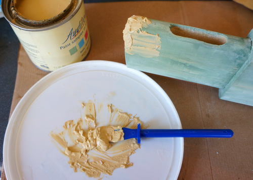 paint spackle wood repair