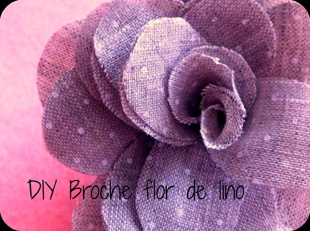 DIY BROCHE FLOR DE LINO