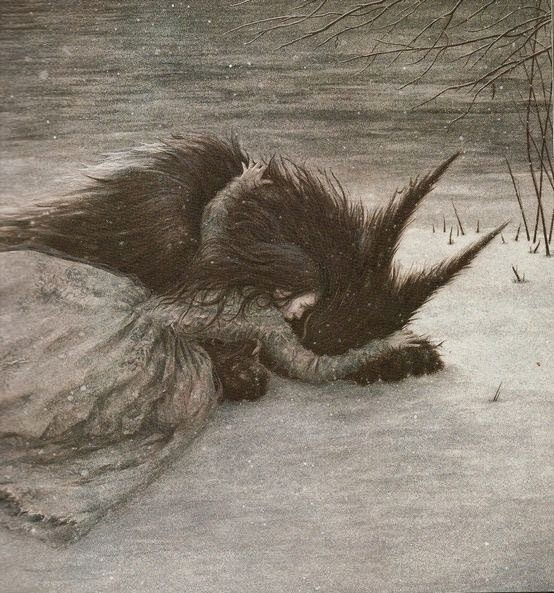 Painting of Beauty and the Beast by Angela Barrett