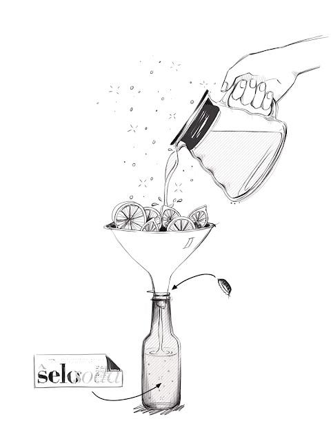 ŝelosoda - Kaffeekirschentee Zeichnung