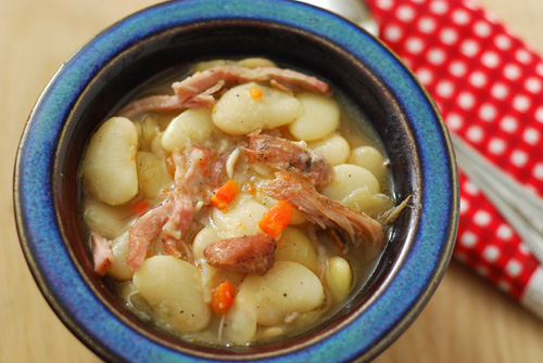 smoked pork and lima beans recipe
