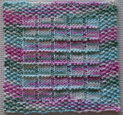Making It With Help Windowpanes Knitted Dishcloth Pattern