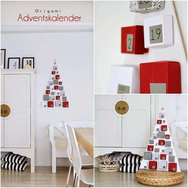 Decoraci n f cil 6 diy calendarios de adviento para navidad - Calendario adviento madera ...