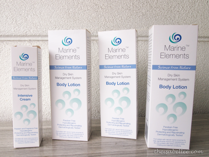 Marine Elements products for dry skin