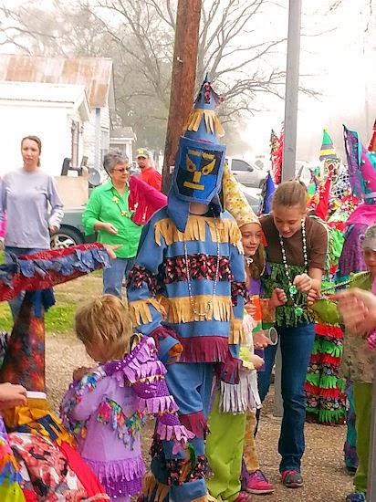 Basile, LA Children's Courir de Mardi Gras
