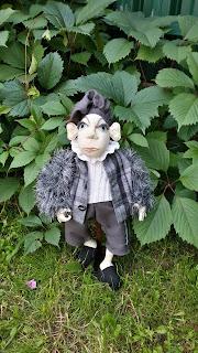handmade, из ткани, кукла, кукла по мотивам Джилл Маас, ручная работа, текстильная кукла,