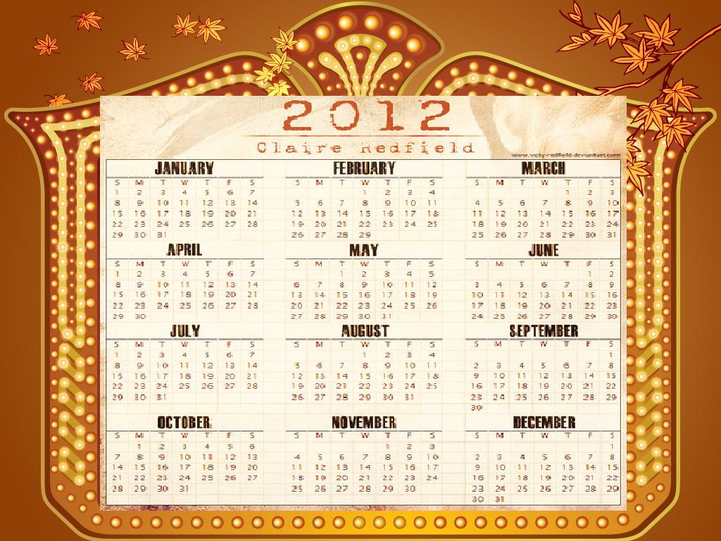 Free Download Of Calendar 2012 With Holidays