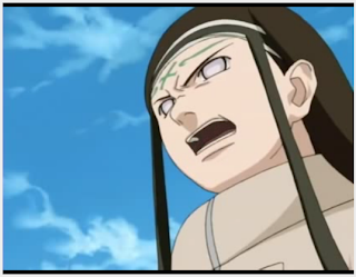 neji, forehead seal, anime screen shot