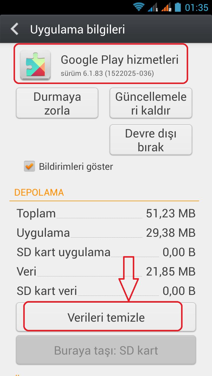 Problemi çözme: Cihaz hafızasında yeterli yer yok. Google Play ve hataları