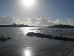 O mar do Ribeirão da Ilha.