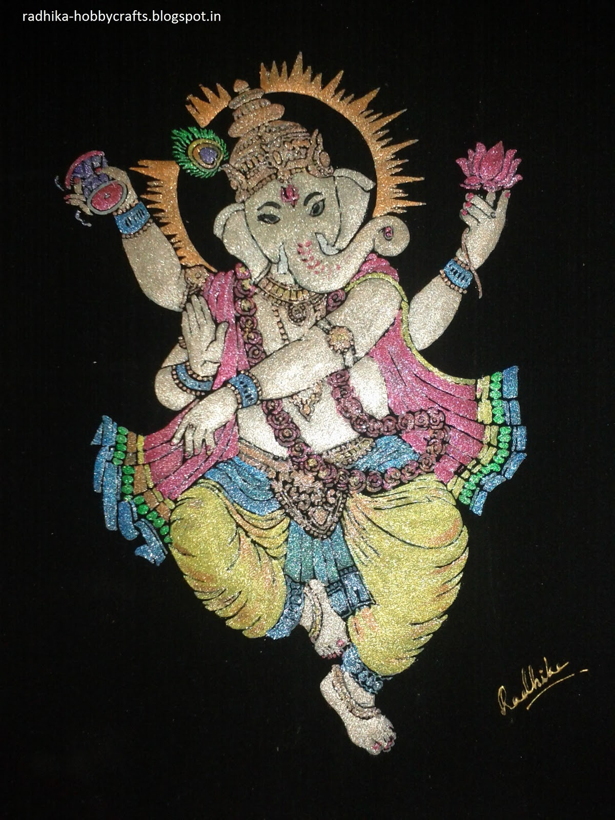 How To Make Acrylic Sheet Rangoli Home Decorations During
